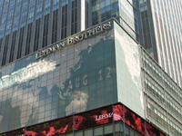 Lehman Bros HQ in Times Square New York