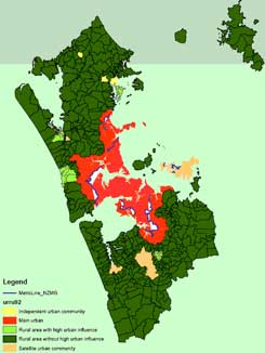 The Auckland MUL is the red boundary