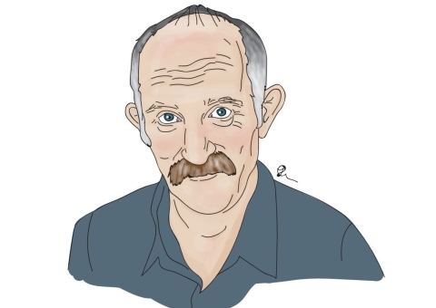 Gareth Morgan illustration by Jacky Carpenter